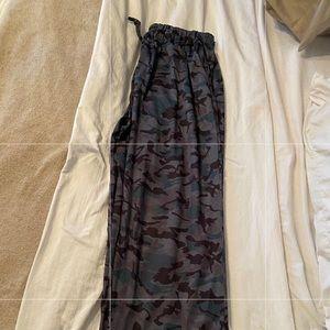 NEW-Camo comfortable drawstring pants